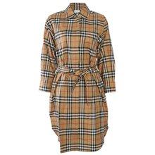 [버버리]19FW 8013946 A2219 빈티지 체크 타이 웨이스트 셔츠 드레스