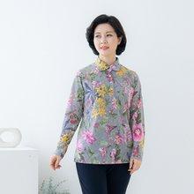 마담4060 엄마옷 꽃라운딩카라티셔츠-ZTE002066-