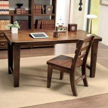 소나무 통원목 서재 책상세트(책상1200+의자)