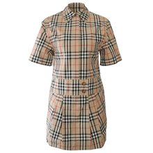 [버버리]19FW 8014190 A7028 벨티드 빈티지 체크 셔츠 드레스