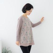 마담4060 엄마옷 진주레이스배색티셔츠-ZTE002065-