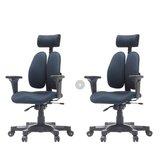 [2개구성] 듀오백 DK 2500G 패브릭 학생 책상 사무용 의자