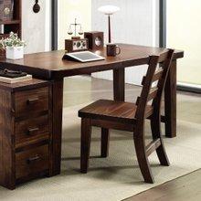 소나무 통원목 서재 책상세트(책상1500+서랍통+의자)