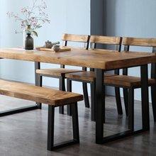 해찬솔 소나무 통원목 에코 6인용식탁B 2000_의자포함/우드슬랩/원목식탁/원목테이블