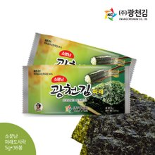 [광천김] 광천김 파래도시락김 5g x 36봉