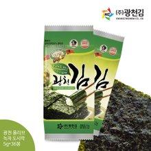 [광천김] 올리브유 녹차 3단도시락김 5g x 36봉