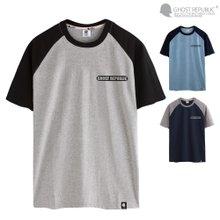 고스트리퍼블릭 컬러 레글런 반팔 티셔츠 GT-372