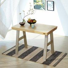 우드인미 소나무 통원목 에코 2인식탁 테이블 1000_OB/우드슬랩/원목테이블/카페테이블