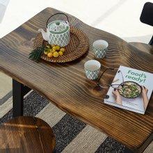 우드인미 소나무 통원목 에코 2인식탁 테이블 1000_DA/우드슬랩/원목테이블/카페테이블