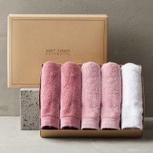 프리미엄 호텔수건 150g 선물세트 5매 (핑크톤)