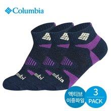 컬럼비아 여성 이중파일 삼각밴딩 발목양말 3P_NY