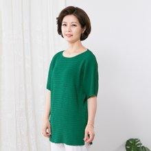 마담4060 엄마옷 플리츠가오리티셔츠 QTE907003