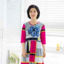 마담4060 엄마옷 큰꽃홈웨어원피스-ZHW003002-