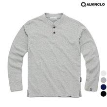 [앨빈클로]AVT-240 심플한 투버튼 헨리넥 긴팔티셔츠
