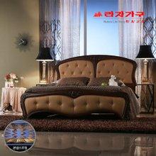 [라자가구]브라운 엘레강스GM202 침대세트 퀸Q(본넬매트리스)