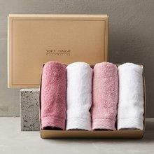 프리미엄 호텔수건 150g 선물세트 4매 (핑크톤)