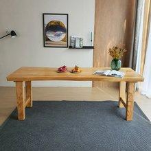 해찬솔 통원목 아트 원목책상 테이블 1800_w700_tr/통원목다리/원목식탁/우드슬랩/카페테이블