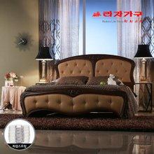 [라자가구]브라운 엘레강스GM202 침대세트 퀸Q(독립매트리스)