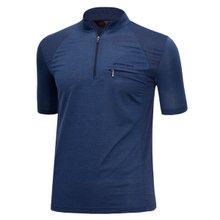 남성 국산 여름 스판 등산복 반팔 티셔츠 LM-H-310-01-네이비