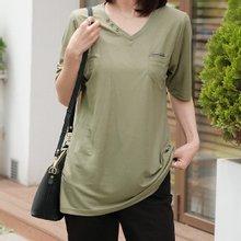 엄마옷 데드라 TBZ3183 데일체크배색티셔츠