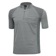 남성 국산 여름 스판 등산복 반팔 티셔츠 LM-H-310-02-그레이