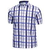 [파파브로]남성 여름 국산 반팔 남방 체크 카라 셔츠 WG-S9-90-화이트