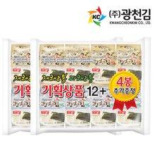 [광천김] 달인 김병만의 광천김 재래도시락16봉+파래도시락16봉