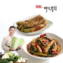 [식품명인 유정임의 명인김치] 열무 얼갈이 김치 2kg + 통오이소박이 2kg