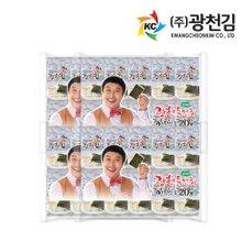[광천김] 달인김병만 광천김 파래도시락김 20단x8팩 (총160봉)