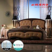 [라자가구]브라운 엘레강스GM202 침대세트 퀸Q(텐셀 9zone독립매트리스)