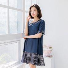 마담4060 엄마옷 배색포인트원피스 QOP905020
