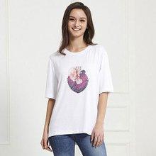 티나쉐 여성 레이온 아트웍 반팔티셔츠