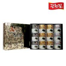 [광천김] 달인 김병만의 2호 선물세트(혼합캔김30g x 12ea)
