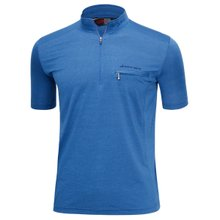 남성 국산 여름 스판 등산복 반팔 티셔츠 LM-H-311-03-블루