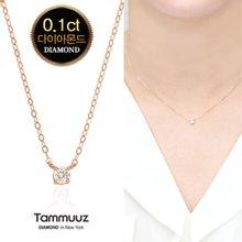 [타뮤즈]18K 1부 다이아몬드-델리스-D2044N-목걸이