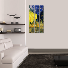 밤의카페테라스 3P 자작나무 명화 벽시계 CHR-3629