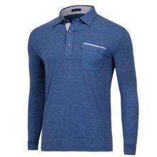 [파파브로]남성 국산 패턴 카라 긴팔 티셔츠 LM-AB-283-네이비