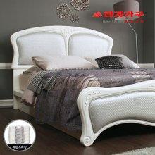 [라자가구]실버 나이트GM301 침대세트 퀸Q(독립매트리스)
