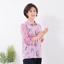 마담4060 엄마옷 꽃사이카라티셔츠 QTE906051