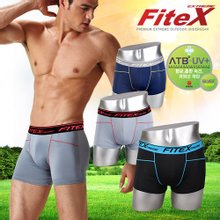 [FiteX]피트엑스 아웃도어 고기능성 남성 ATB 드로즈팬티/스포츠용 항균 흡한속건 언더레이어/3D 입체패턴
