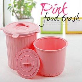 [엔플라스틱] 핑크 음식물쓰레기통 5L