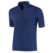 부드러운 기능성 여름 스판 등산복 반팔 티셔츠 LM-H-305-01-네이비