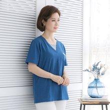 마담4060 엄마옷 레이어드한듯티셔츠 QTE906002