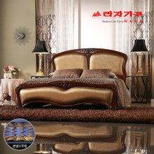 [라자가구]골드 나이트GM302 침대세트 퀸Q(본넬매트리스)