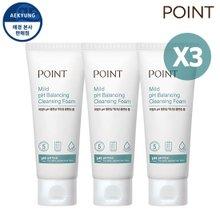 포인트 1+1+1 마일드 pH밸런싱 약산성 클렌징 폼 100g