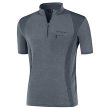 부드러운 기능성 여름 스판 등산복 반팔 티셔츠 LM-H-305-02-그레이