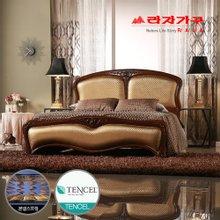 [라자가구]골드 나이트GM302 침대세트 퀸Q(텐셀본넬매트리스)