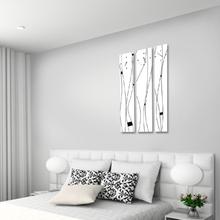 플로우 3P 자작나무 액자 벽시계 CHR-3617