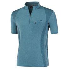 부드러운 기능성 여름 스판 등산복 반팔 티셔츠 LM-H-305-04-청록