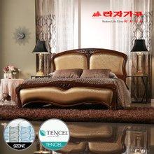 [라자가구]골드 나이트GM302 침대세트 퀸Q(텐셀 9zone독립매트리스)